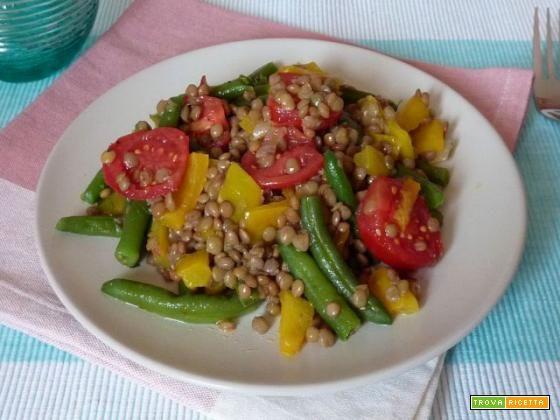Insalata di lenticchie e fagiolini - Ricetta