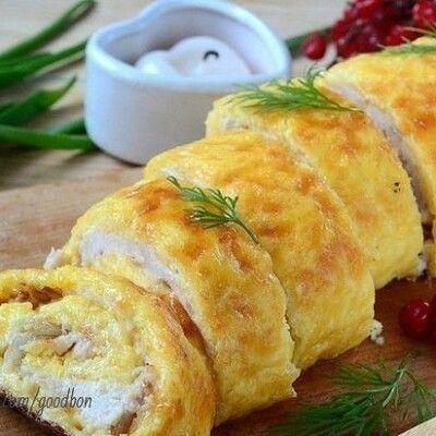 Вкуснейший куриный рулет дома! Если готовить мясо, то только так ❤ Ингредиенты: Сыр твердый — 200 г Яйца — 3 шт.... Коллекция Рецептов - Мой Мир@Mail.ru
