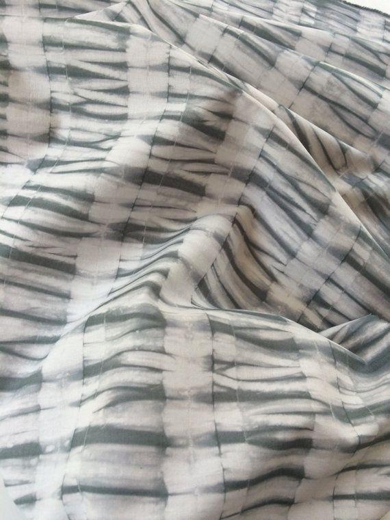 Shibori Hand Dyed Fabric Charcoal Grey by CapeCodShibori on Etsy