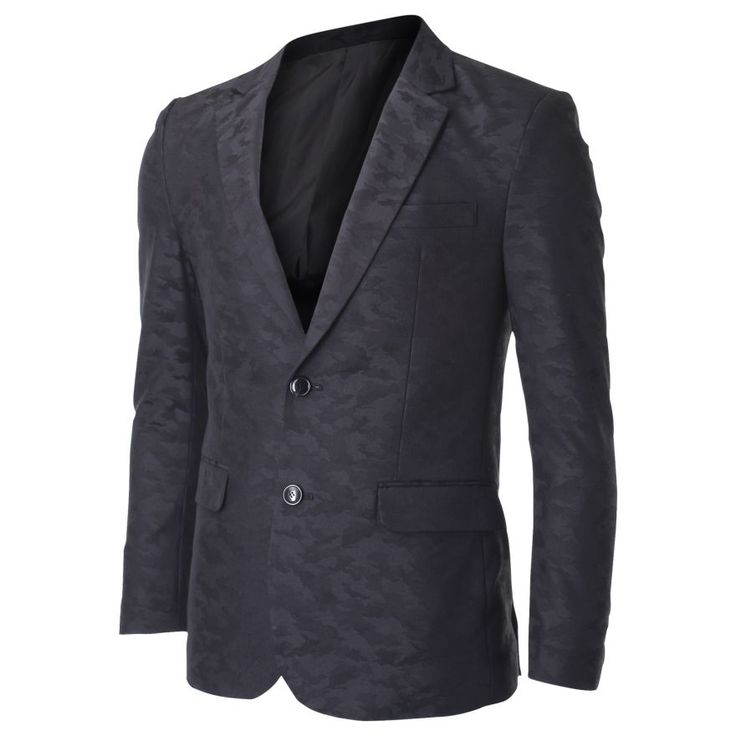 Men's Two Button Military Camo Suit Blazer Jacket (BJ451) #FLATSEVEN  FLATSEVENSHOP.COM