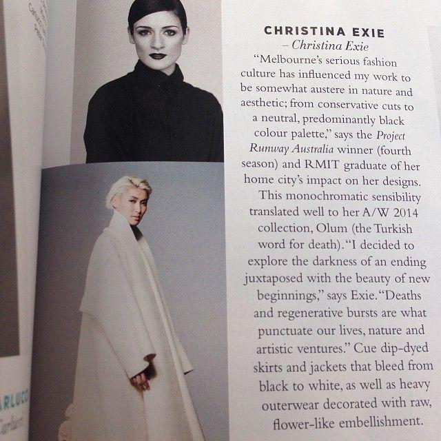 CHRISTINA EXIE | HARPER'S BAZAAR #aprilissue #harpersbazaar #australia #christinaexie #tiffanyandco #nationaldesigneraward #vamff @Tiffany Reynolds...