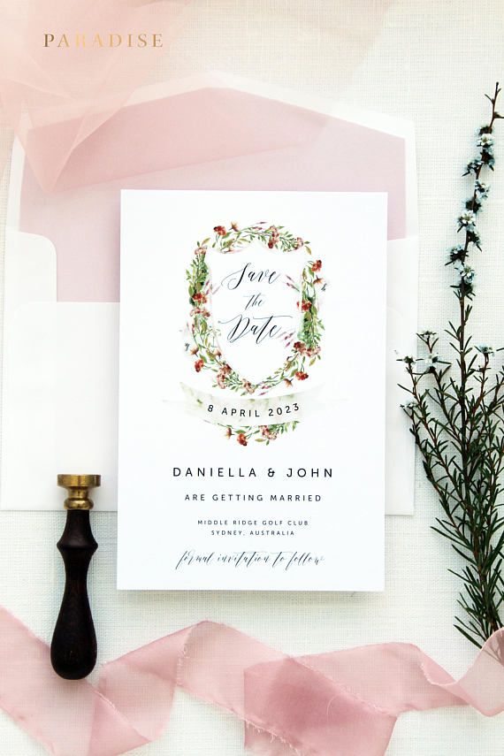 save the date wedding stationery uk%0A London Floral Crest Save the Date Cards  Printable Save the Date Card or  Printed Cards