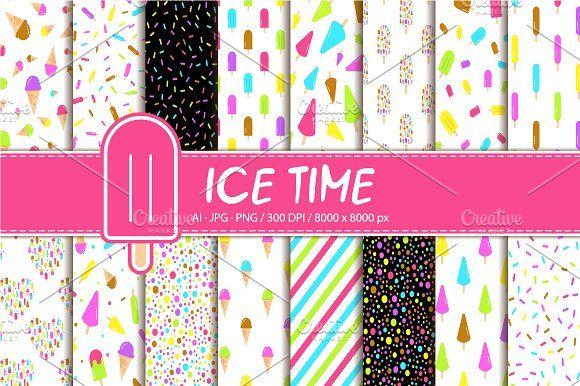 Ice cream icon set by Nadezda Gudeleva on @creativemarket