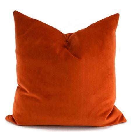 Best Orange Sueded Velvet Throw Pillow Cover Burnt Orange 400 x 300