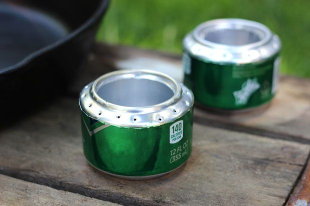 Soda can stoves for camping. (Even if you bring a portable stove with you.) Because making these is half the fun.