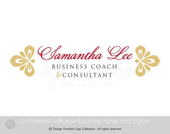 Professional consultant logo Business Coach and by DesignOrchard