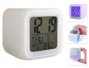 Renk Değiştiren Aura Alarmlı Dijital Saat http://bit.ly/1k8A3x2