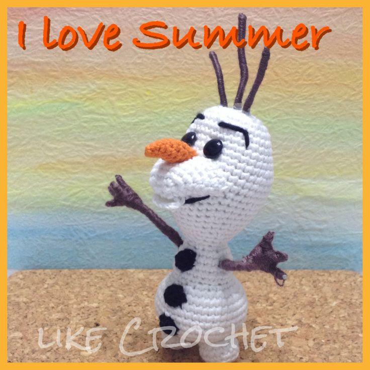 Olaf of Frozen amigurumi pattern amigurumi Pinterest