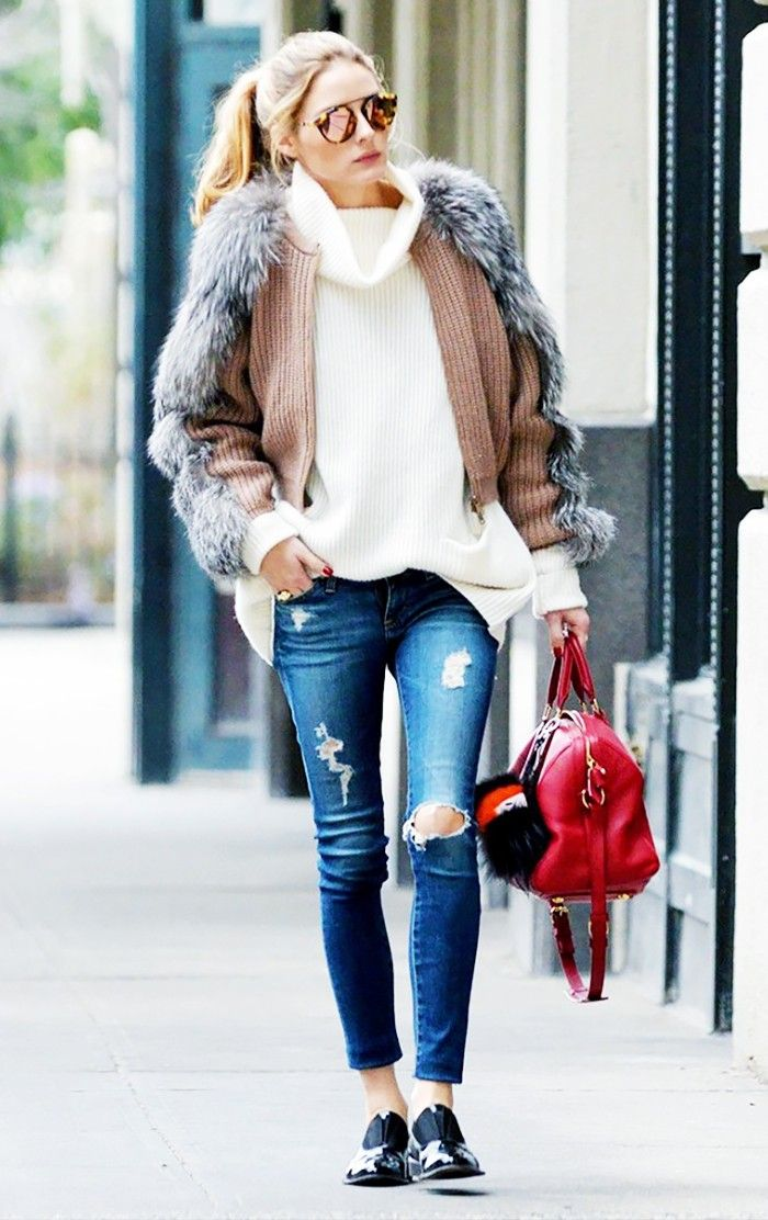 Olivia Palermo in AG The Legging Ankle Jeans in 7 Years Break Me Down