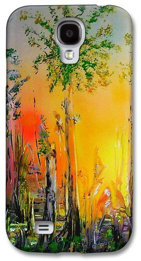 Forest Of Souls Galaxy S4 Case Printed with Fine Art spray painting image Forest Of Souls by Nandor Molnar (When you visit the Shop, change the orientation, background color and image size as you wish)
