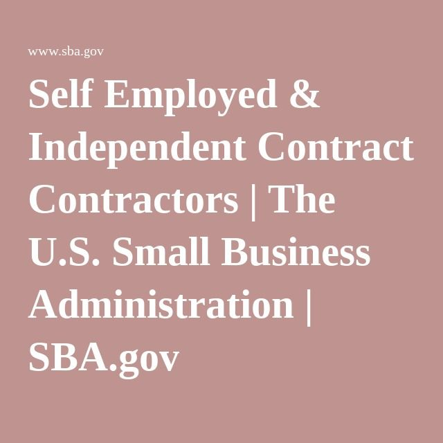 businesses small self employed independent contractor defined