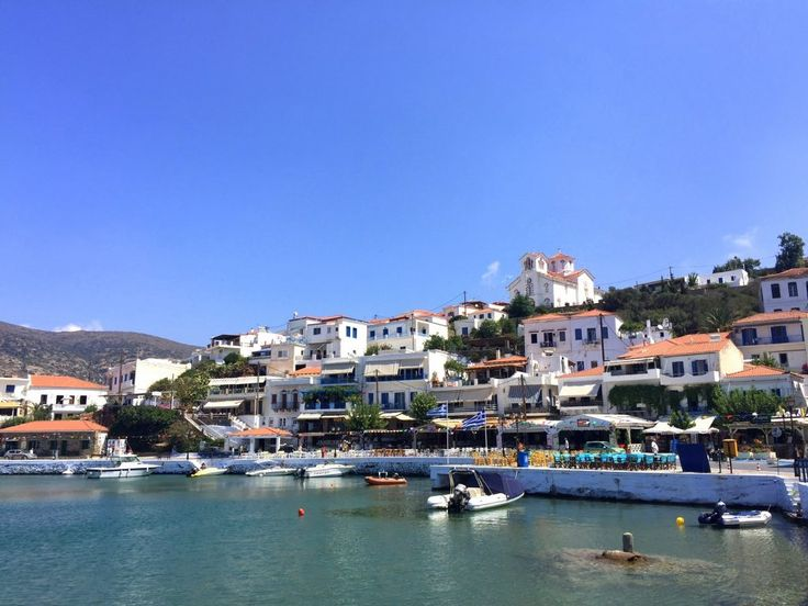 A clear sunny day on the island of Andros