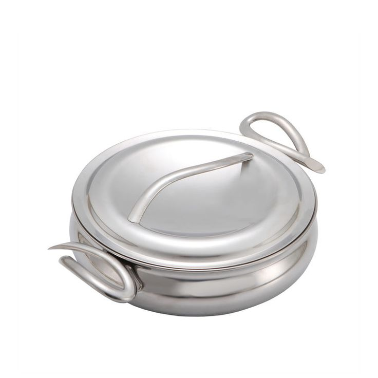 """Nambe CookServ 10-inch Saute Pan - Made of 5-Ply Stainless Steel Includes double-wall stainless steel lid with continuous basting nubs 10"""" D; 3 Qt.; Dishwasher safe Designed by Neil Cohen"""
