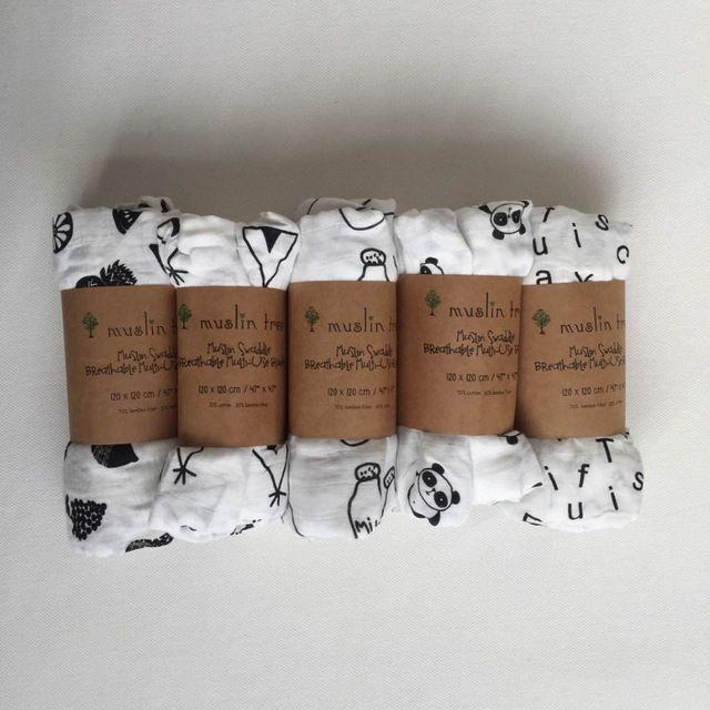 Pasgeboren Mousseline Boom inbakeren kwaliteit beter dan Aden Anais Baby multi-use katoen/bamboe Deken Zuigeling Parisarc XO /Cross Wrap