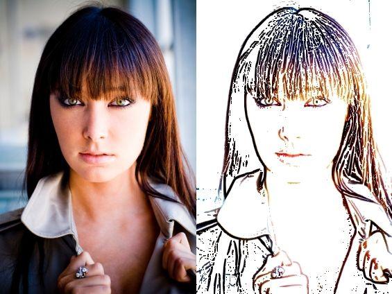 Photoshop: como criar desenhos a partir de fotos.: Foto Pin-Up, Photo