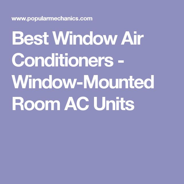 Best Window Air Conditioners - Window-Mounted Room AC Units