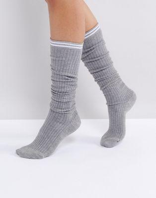 ASOS 2 Stripe Ribbed Lounge Socks