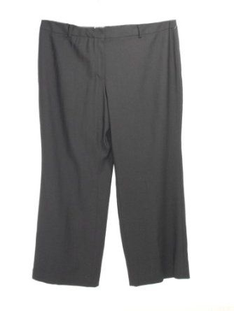 Anne Klein 100% Virgin Wool Black Pants w/Belt Loops 22W Anne Klein New York. $12.50