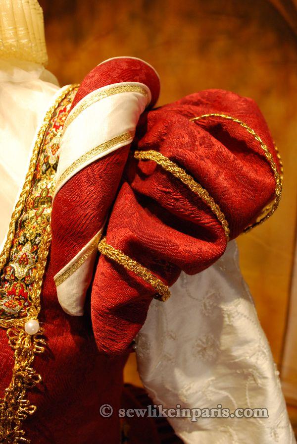 Tudor Costume — Elizabethan Red Gown
