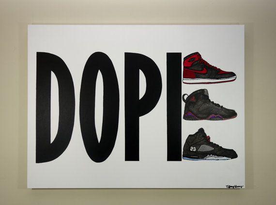 DOPE JORDANS Painting 40x30 Sneaker Art Air by TiffanyUssery