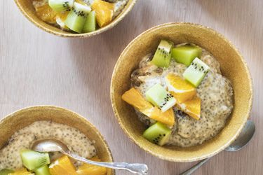 Silky chia and dried plum breakfast