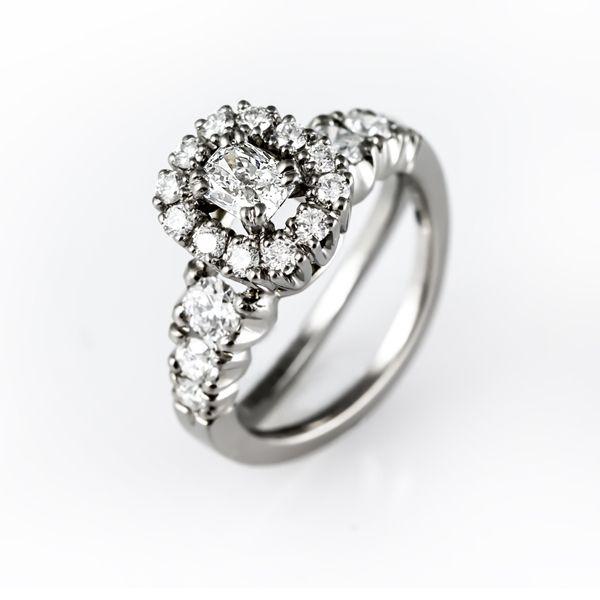 Unique handmade diamond ring.