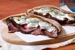 Grilled Steak with Tzatziki Salad Recipe - Kraft Recipes