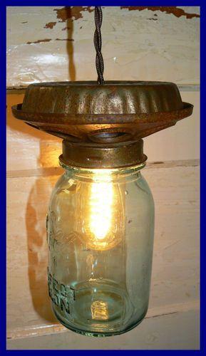 Chicken Feeder Light with Blue Ball Perfect Mason Jar   eBay