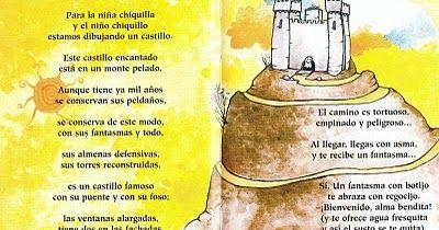 Poesía de Gloria Fuertes       Fuente: http://amigajirafa.blogspot.com.es/2012/01/como-se-dibuja-un-castillo.html