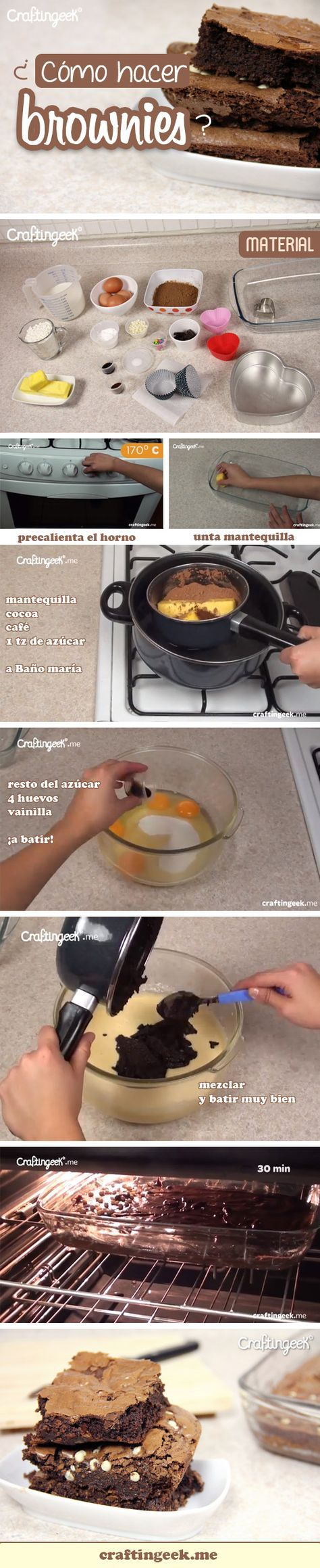 Cómo hacer Brownies de chocolate es muy sencillo, si quieres ver la receta completa da clic, es el postre ideal para el 14 de febrero #SanValentín #postres