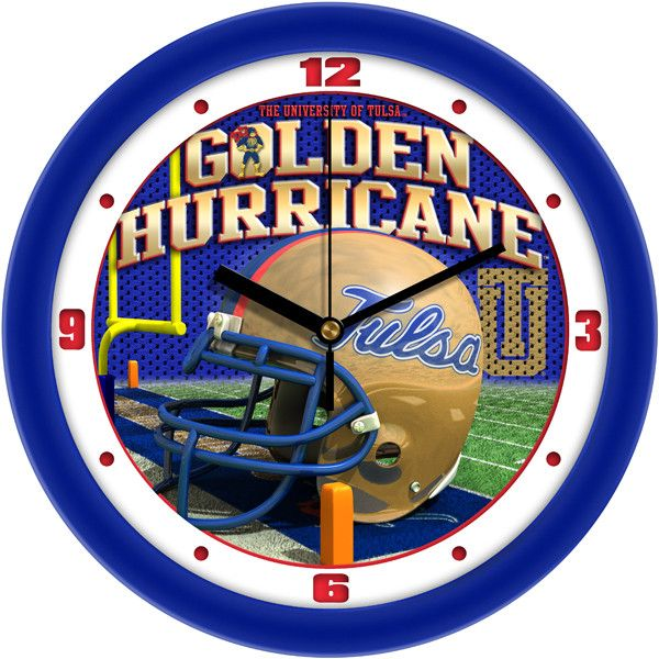 Tulsa Golden Hurricane - Football Helmet Wall Clock