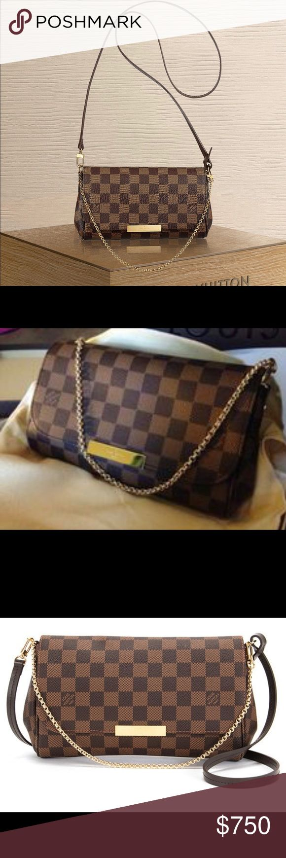Louis Vuitton Handbag Brand New FAVORITE PM N41276  The versatile Pochette Favorite looks delightful in Damier canvas. Louis Vuitton Bags Crossbody Bags