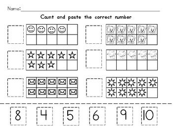 free! Counting Worksheet- Tens Frame