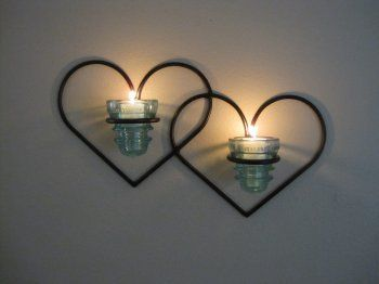 Insulator Candle Hearts  by L. Harrington