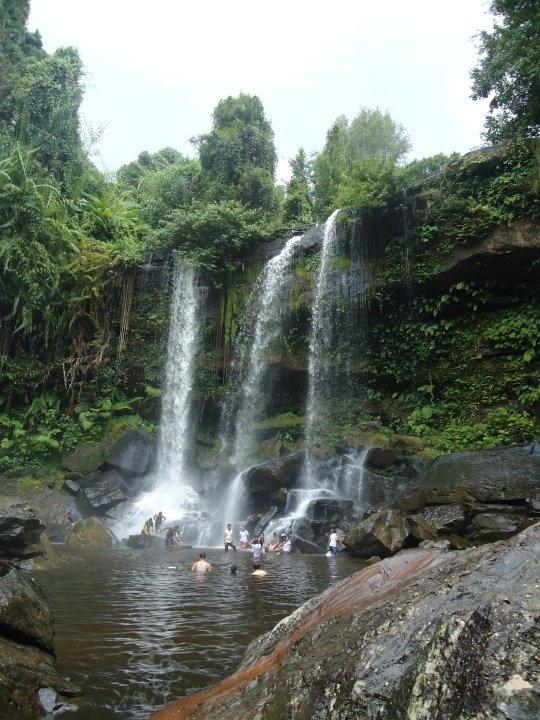 A waterfall on Kulen Mountain, Cambodia.