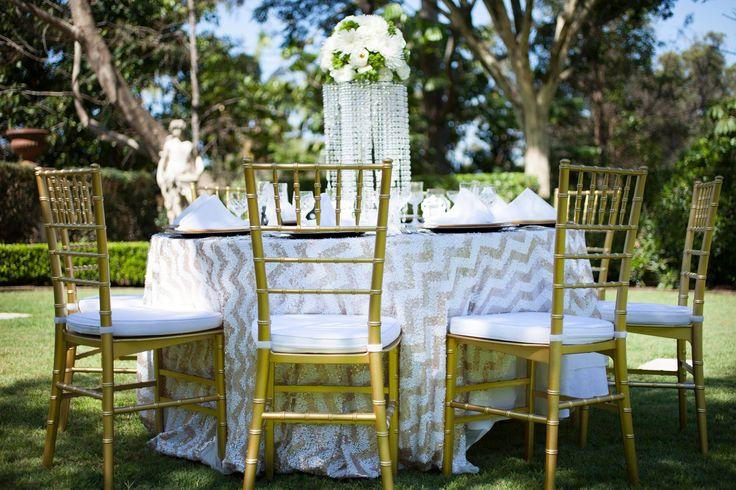 Glitz & Glam in the Graden | Gold Wedding Scheme | Outdoor Garden Wedding | Evergreen Garden Venue | Styled by Sugar and Spice Events | Infinity Faith Photography