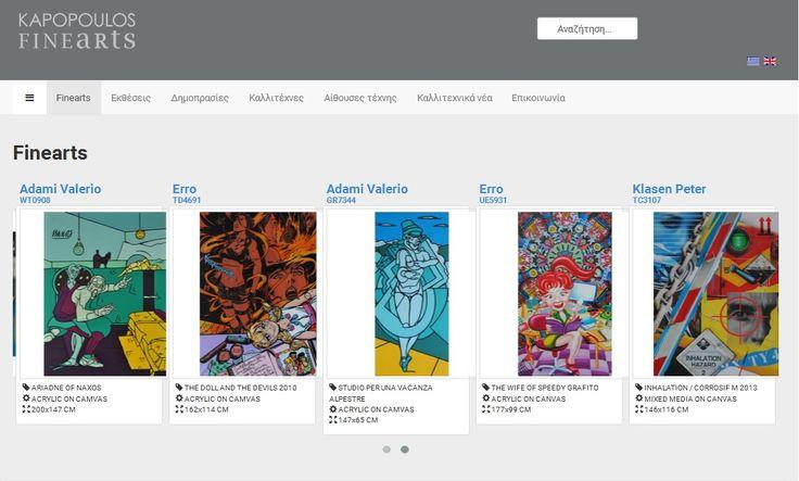 Η All about Business ολοκλήρωσε την ιστοσελίδα της εταιρείας Kapopoulos Fine Arts http://www.kapopoulosart.gr. Δείτε όλες τις τελευταίες δημιουργίες μας στο παρακάτω Link http://goo.gl/ff7D2p