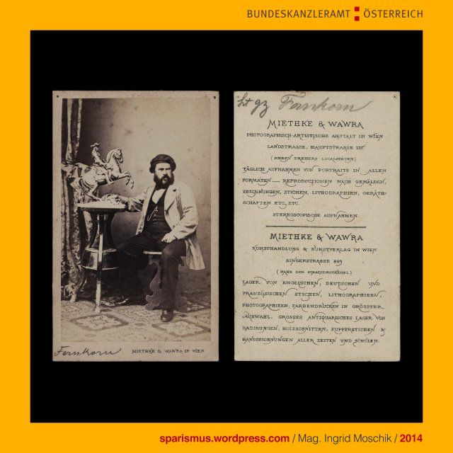 Miethke & Wawra, Kunst- und Photohandlung, Wien, Singerstrasse 889, um 1865, Anton von Fernkorn, Bildhauer