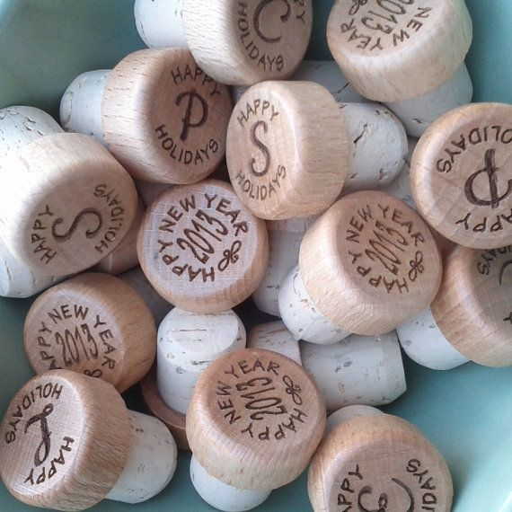 End the festivities in style with monogrammed wine stoppers.