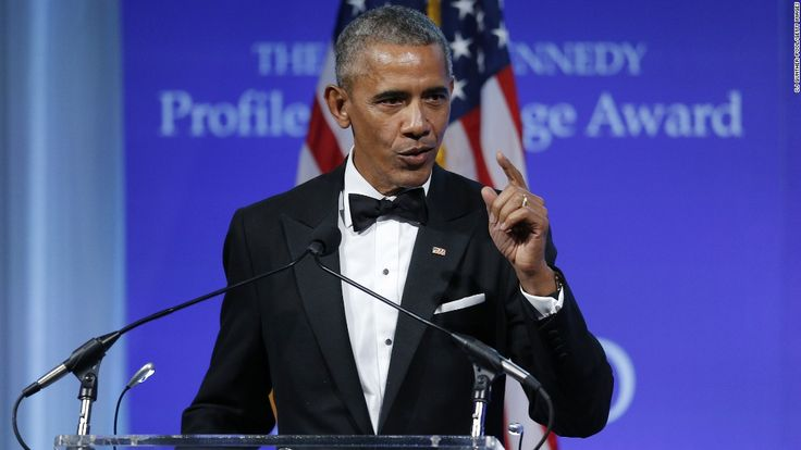 Former President Barack Obama called on members of Congress to oppose the repeal of the Affordable Care Act, his signature health care law, in a speech Sunday night at the John F. Kennedy Library Foundation in Boston.