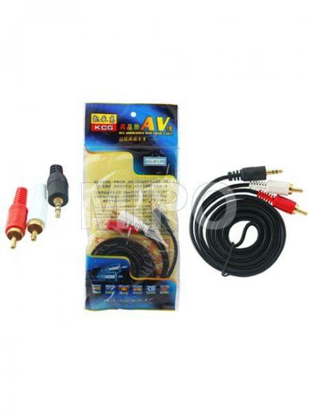 Kabel Audio to 2 RCA 1.5 mtr  Kabel Audio 3.5mm male to R/L Male Gold Jack  Panjang : 1.5 Meter  Harga rp35.000 Info detail di : www.tokomipo.com