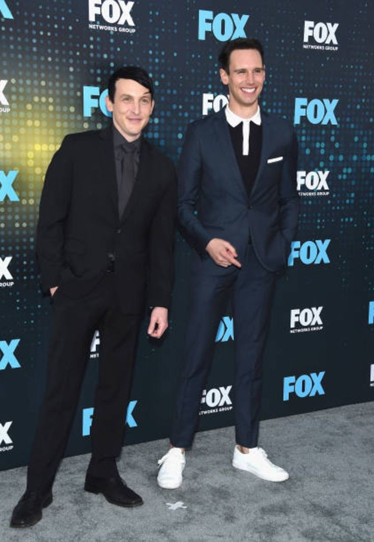 "justgotham: "" ""NEW YORK, NY - MAY 15: Actors Robin Lord Taylor (L) and Cory Michael Smith of the show 'Gotham' attend the FOX Upfront on May 15, 2017 in New York City. "" Via: Gary Gershoff """