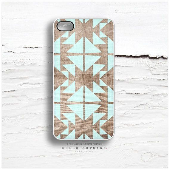 iPhone 5C Case Faux Wood iPhone 5s Case Mint by HelloNutcase, $19.00