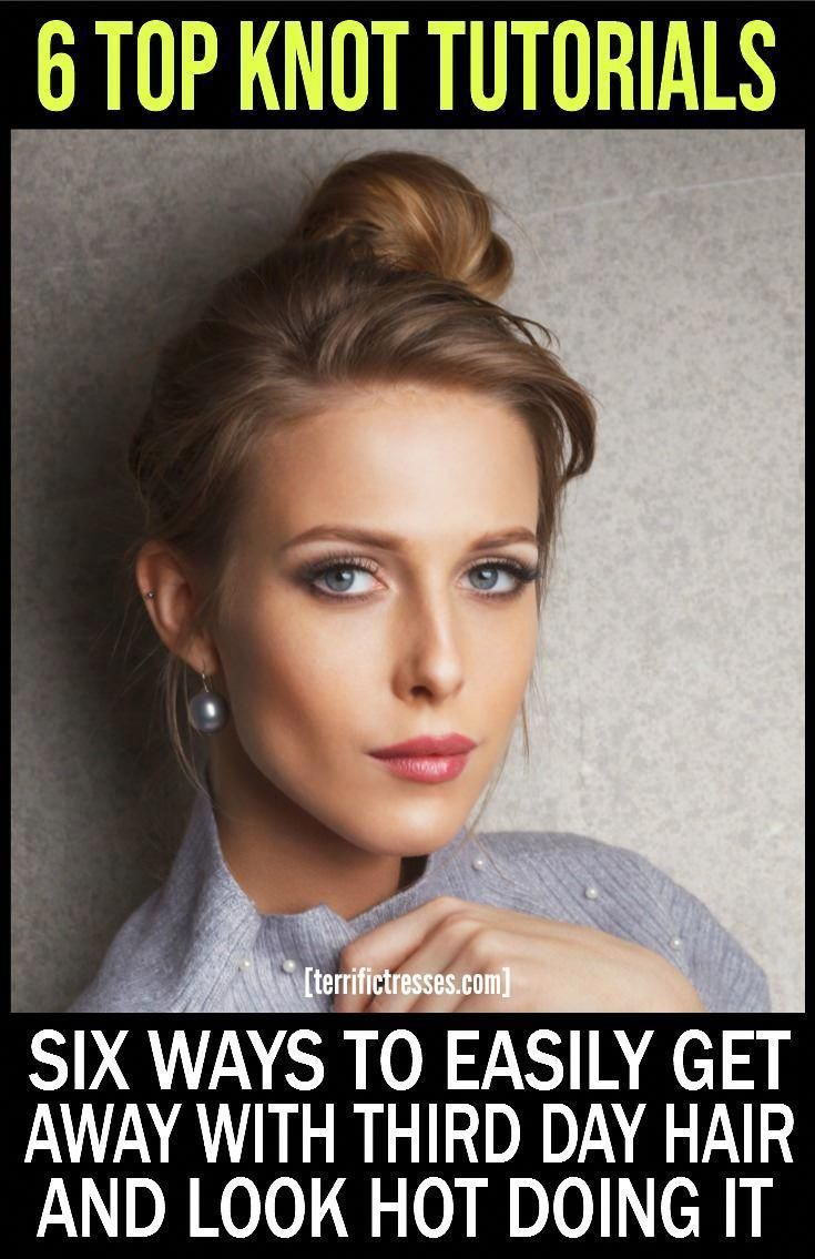 Who doesn't love top knots? Whether for short hair, for medium, thin hair, or ...