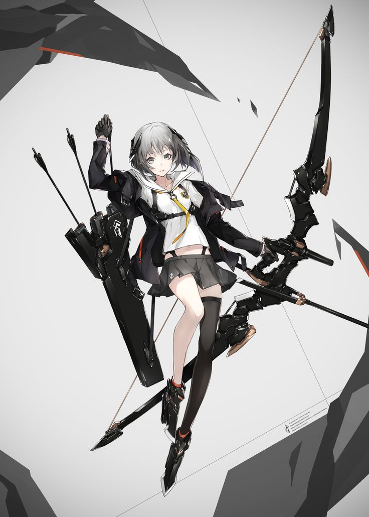 150 best images about anime weapons on pinterest anime - Anime girl with weapon ...