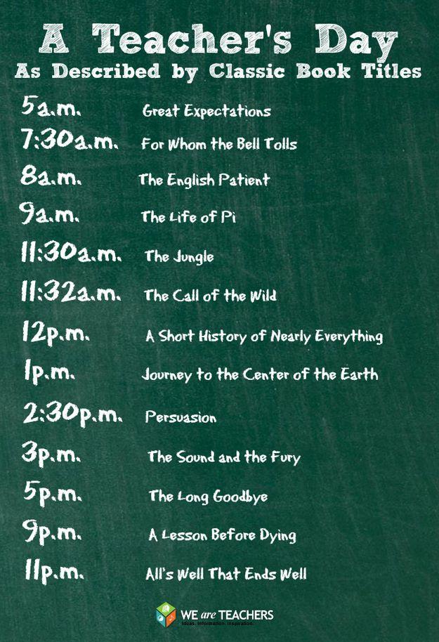 Teacher's Day in Classic Book Titles
