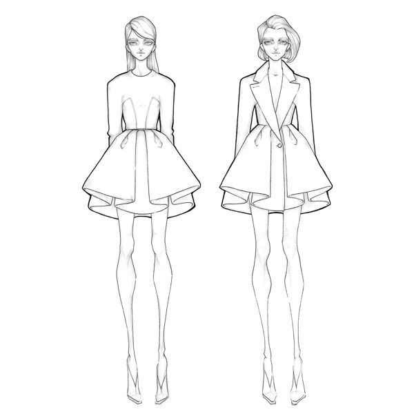 179 best fashion croquis & sketching images on Pinterest