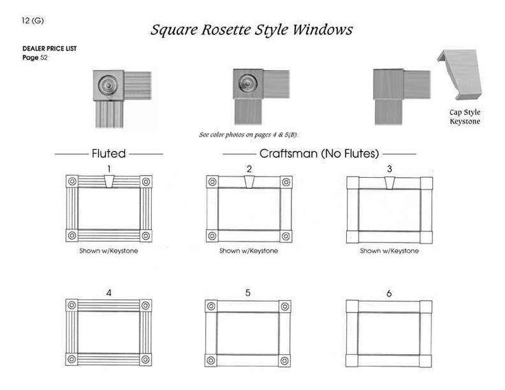 Square Rosette Style Windows Craftsman Home Pinterest