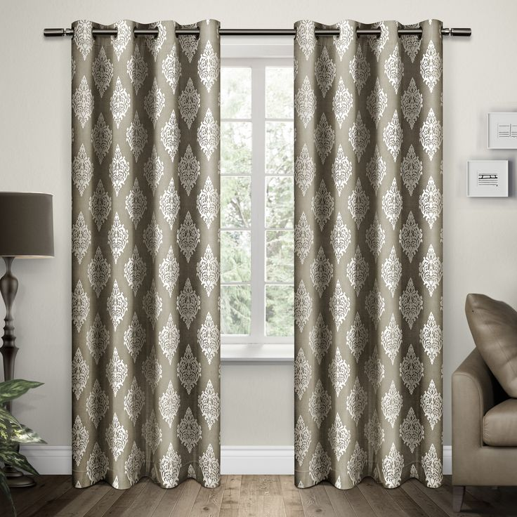 Charming Brown Damask Curtains Pictures Inspiration - Bathtub for ...