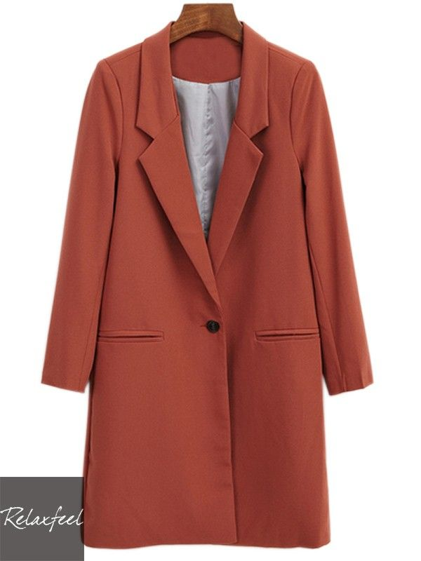 Relaxfeel Women's Lapel Long Sleeve Long Coat - New In
